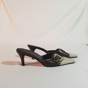 A. Marinelli Lonnie Brown Slip on Heels Sz 8